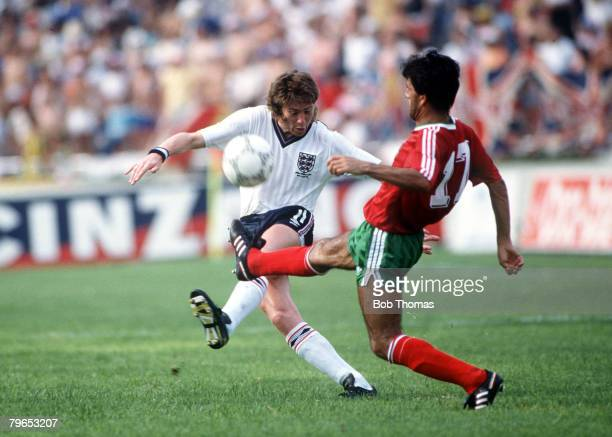 World Cup Finals Monterrey Mexico 3rd June England 0 v Portugal 1 England's Chris Waddle battles for the ball with Portugal's Fernandez