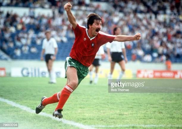 World Cup Finals Monterrey Mexico 3rd June England 0 v Portugal 1Portugal's Carlos Manuel celebrates after scoring the game's only goal