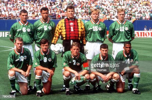 World Cup Finals New York USA 18th June 1994 Ireland 1 v Italy 0 The Ireland team group before the match