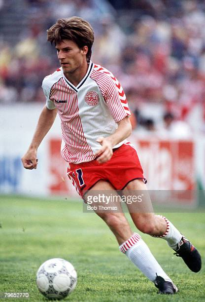 World Cup Finals Neza Mexico 4th June Denmark 1 v Scotland 0 Denmark's Michael Laudrup on the ball