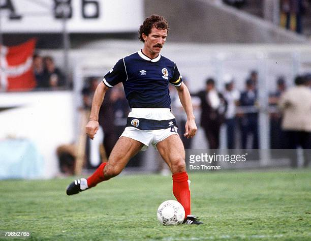 World Cup Finals Neza Mexico 4th June Denmark 1 v Scotland 0Scotland's Graeme Souness on the ball