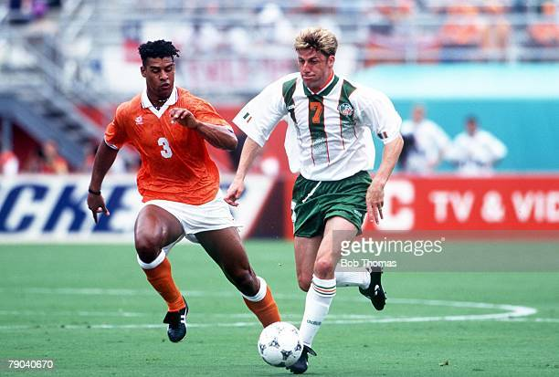 World Cup Finals Orlando USA 4th July Holland 2 v Republic of Ireland 0 Ireland's Andy Townsend gets away from Holland's Frank Rijkaard