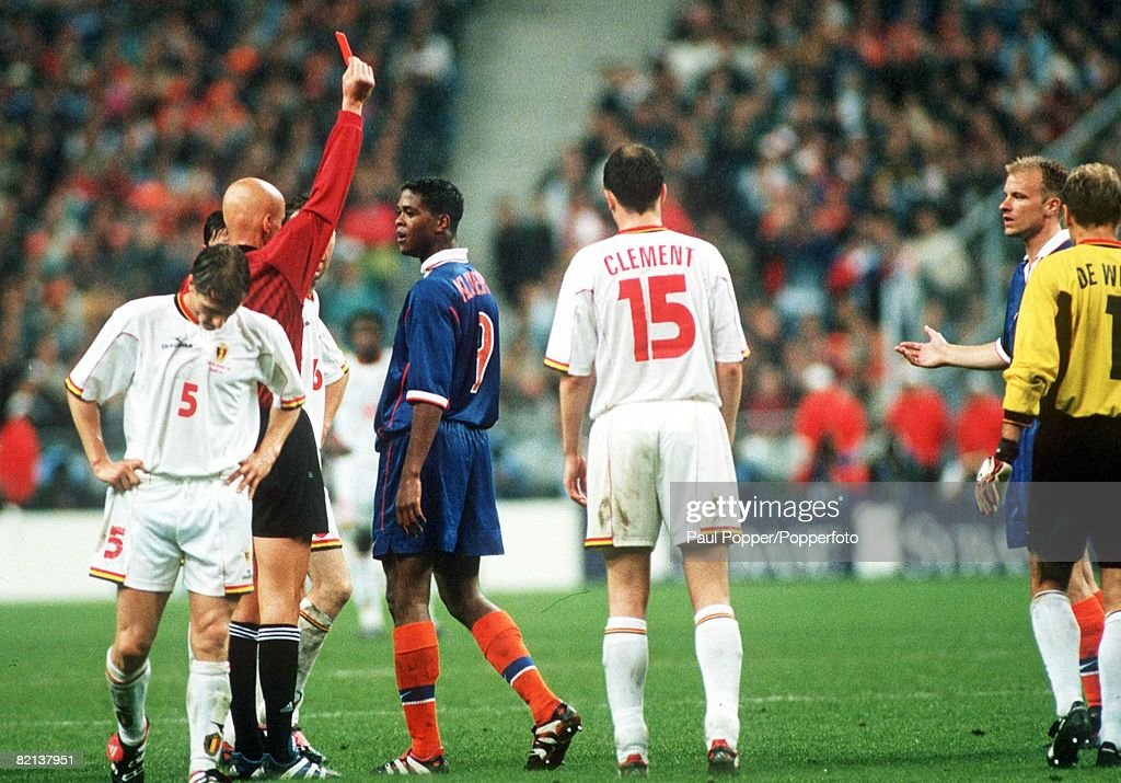 Image result for kluivert red card vs belgium