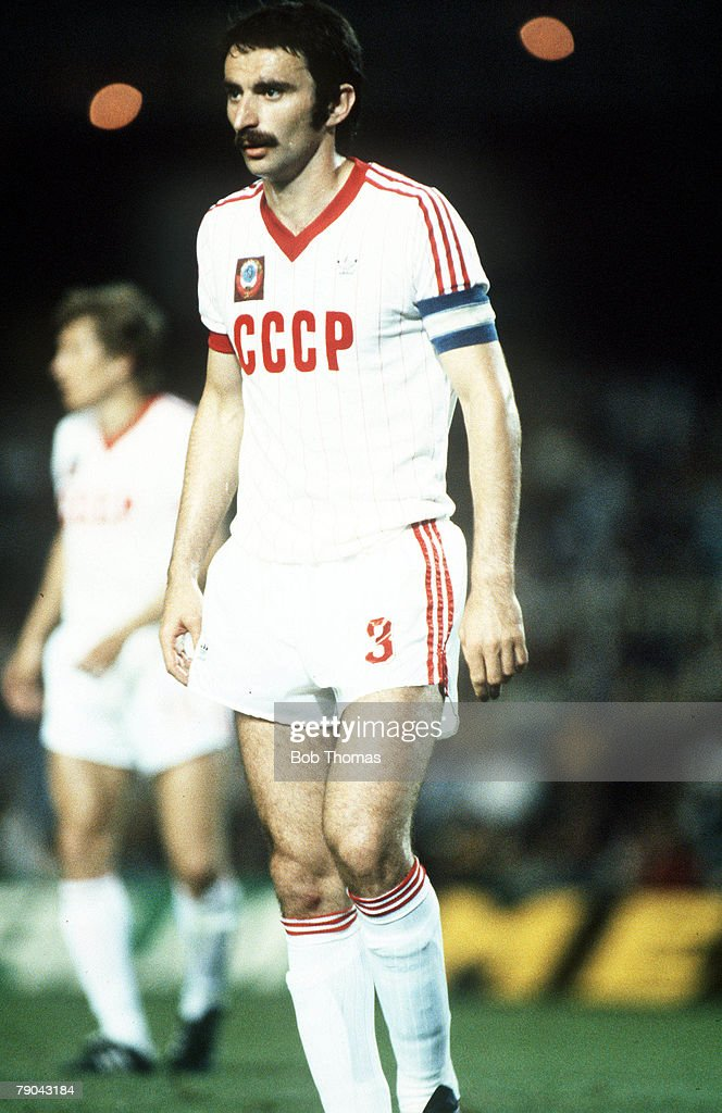 World Cup Finals Second Phase Barcelona Spain 1st July USSR 1 v Belgium 0 USSR's Alexandre Chivadze