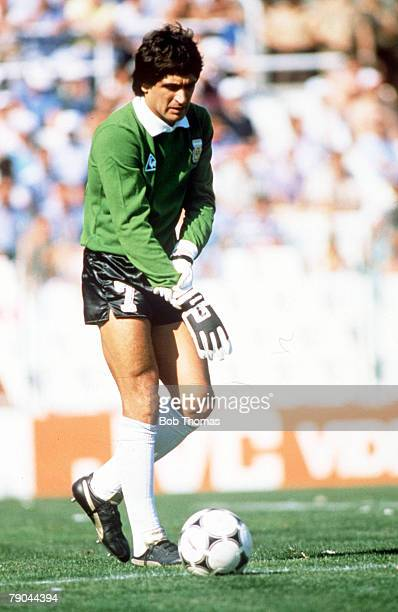 World Cup Finals Second Phase Barcelona Spain 29th June Italy 2 v Argentina 1 Argentina's goalkeeper Ubaldo Fillol
