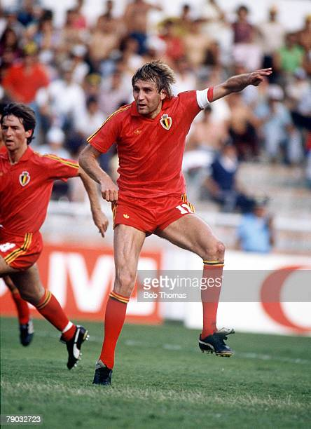 World Cup Finals Second Phase Leon Mexico 15th June Belgium 4 v USSR 3 Belgium's Jan Ceulemans scores one of his side's goals