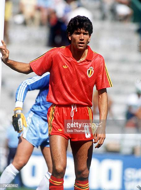 World Cup Finals Second Phase Leon Mexico 15th June Belgium 4 v USSR 3 Belgium's Enzo Scifo