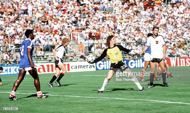 World Cup Finals Second Phase Madrid Spain 28th June France 1 v Austria 0 France's goalkeeper Jean Luc Ettori throws the ball out after an Austrian...