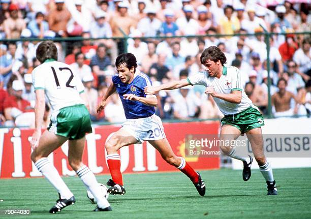 World Cup Finals Second Phase Madrid Spain 4th July France 4 v Northern Ireland 1France's Gerard Soler gets away from Northern Ireland's Mal Donaghy