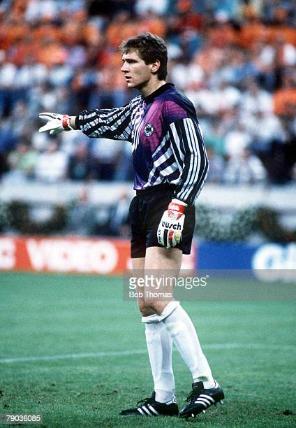 World Cup Finals Second Phase Milan Italy 24th June West Germany 2 v Holland 1 West Germany goalkeeper Bodo Illgner