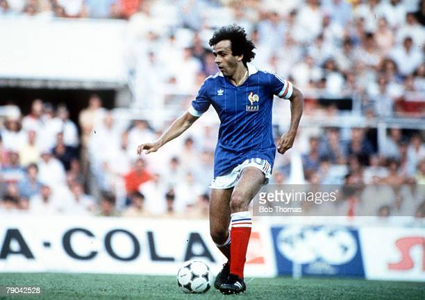 World Cup Finals SemiFinal Seville Spain 8th July West Germany 3 v France 3 France's Michel Platini