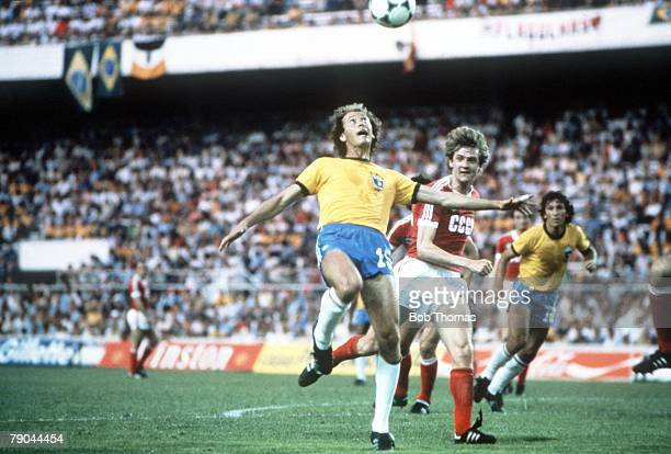 World Cup Finals Seville Spain 14th June Brazil 2 v USSR 1 Brazil's Paulo Falcao