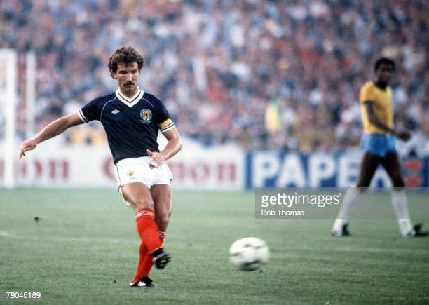 World Cup Finals Seville Spain 18th June Brazil 4 v Scotland 1 Scotland's Graeme Souness