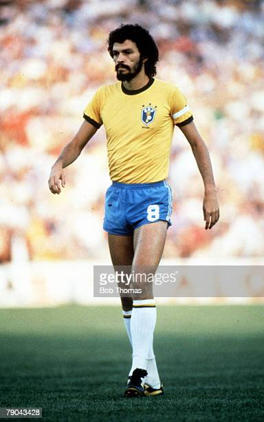 World Cup Finals Seville Spain 23rd June Brazil 4 v New Zealand 0 Brazil's Socrates