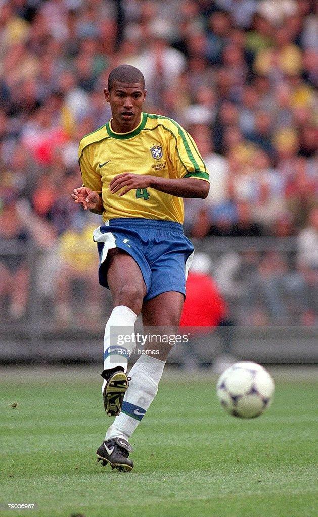World Cup Finals St Denis Paris 10th June Brazil 2 v Scotland 1 Junior Baiano Brazil