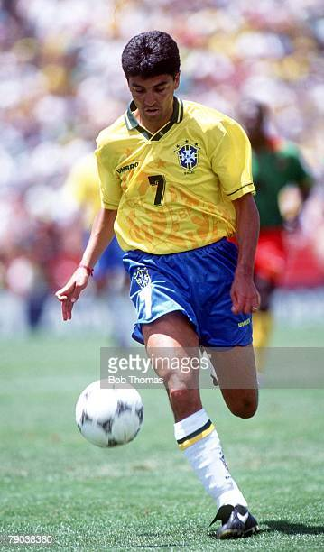 World Cup Finals Stanford USA 24th June Brazil 3 v Cameroon 0 Brazil's Bebeto