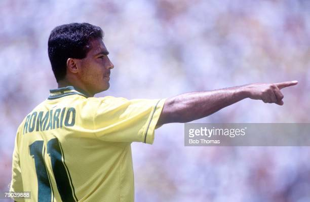 World Cup Finals Stanford USA 24th June Brazil 3 v Cameroon 0 Brazil's Romario