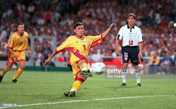 World Cup Finals Toulouse France 22nd June England 1 v Romania 2 Romania's Viorel Moldovan scores his sides first goal