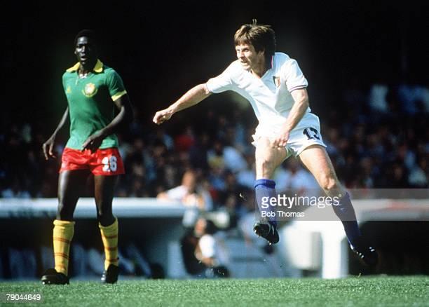 World Cup Finals Vigo Spain 23rd June 1982 Italy 1 v Cameroon 1 Italy's Gabriele Oriali