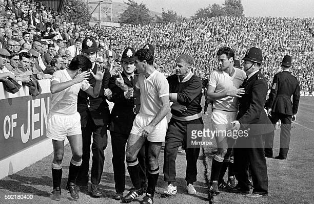 World Cup Football 1966 West Germany v Uruguay The 2nd Uruguayan Player No 19 Silva is sent off the field for a bad foul on a German player but is...