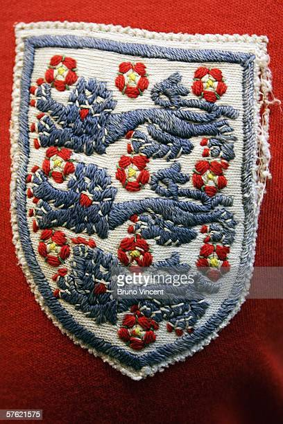 World cup football shirt worn by George Cohen during the final at Wembley is displayed at Christies Auctioneers before its sale on May 16 2006 in...