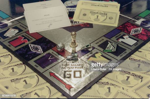 World Cup France 98 edition Monopoly based on the original Waddington's board game which has been released to coincide with the qualifying matches...