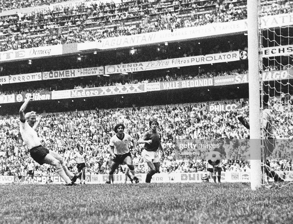 1970 FIFA World Cup in Mexico Semi final at Aztec Stadium Mexico