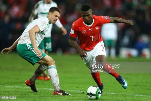 World Cup Qualifiers playoff Switzerland v Northern Ireland Breel Embolo of Switzerland in action at St JakobPark in Basel Switzerland on November 12...