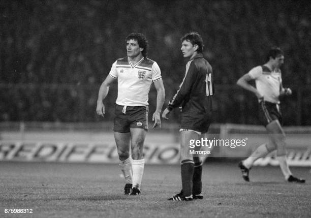 World Cup Qualifying match at Wembley Stadium England defeated Hungary by 1 goal to 0 to qualify for the 1982 tournament in Spain England's Kevin...