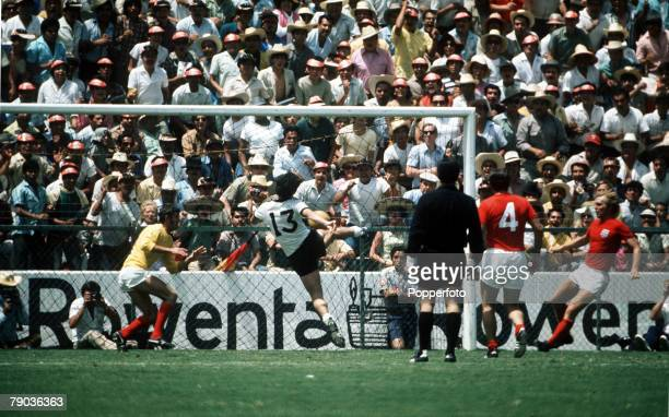 World Cup Quarter Final Leon Mexico 14th June West Germany 3 v England 2 West Germany's Gerd Muller scores the winning goal in extra time past...