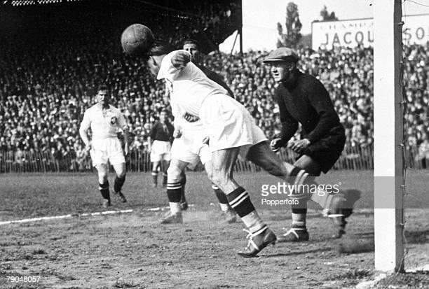 World Cup QuarterFinal Lille France Hungary 2 v Switzerland 1 12th June A Swiss defender heads away an Hungarian attack during the match