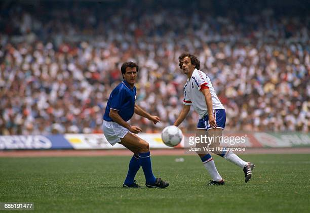 World Cup round of 16 France vs Italy France won 20 Gaetano Scirea and Michel Platini
