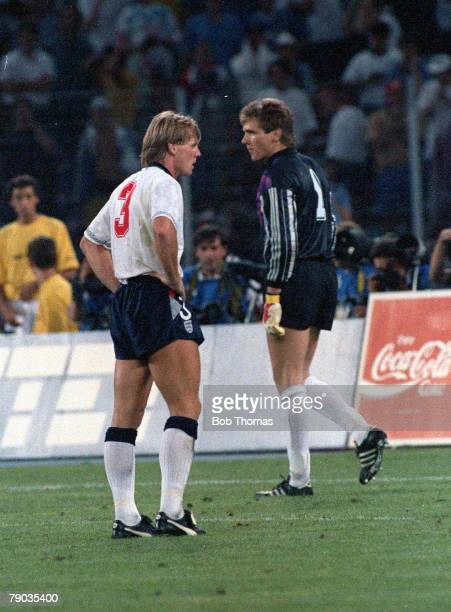 World Cup Semi Final Turin Italy 4th July West Germany 1 v England 1 England's Stuart Pearce is dejected after his penalty kick was saved by West...