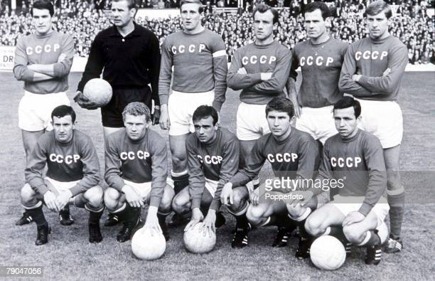 World Cup SemiFinal Liverpool England 25th July West Germany 2 v Soviet Union 1 The Russian team line up before their match with West Germany
