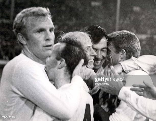 World Cup SemiFinal Wembley Stadium England 26th July England 2 v Portugal 1 England players embrace after they had beaten Portugal 21 to take their...