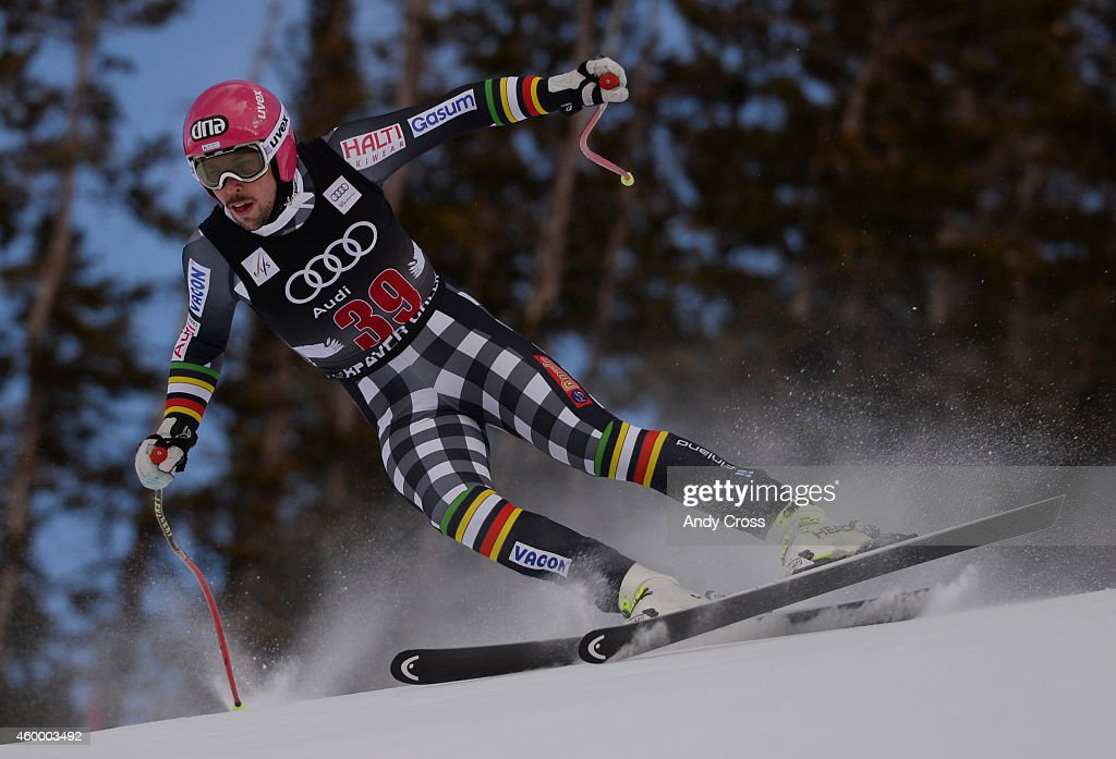World Cup skier, <a gi-track='captionPersonalityLinkClicked' href=/galleries/search?phrase=Andreas+Romar&family=editorial&specificpeople=6734606 ng-click='$event.stopPropagation()'>Andreas Romar</a>, Finland, makes a turn in The Brink area on the Birds of Prey downhill course at Beaver Creek, during the Audi FIS Ski World Cup downhill race December 05, 2014.