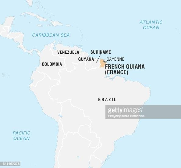 World Data Locator Map French Guiana Pictures Getty Images - Map of french guiana world