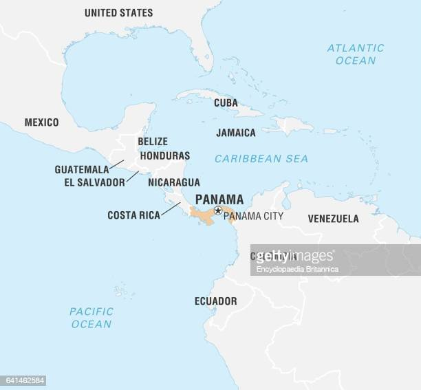 Panama Map Stock Photos And Pictures Getty Images - Is panama us territory map