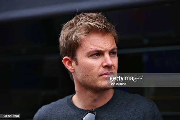 World Drivers Champion Nico Rosberg in the Pitlane during day three of Formula One winter testing at Circuit de Catalunya on March 1 2017 in Montmelo...