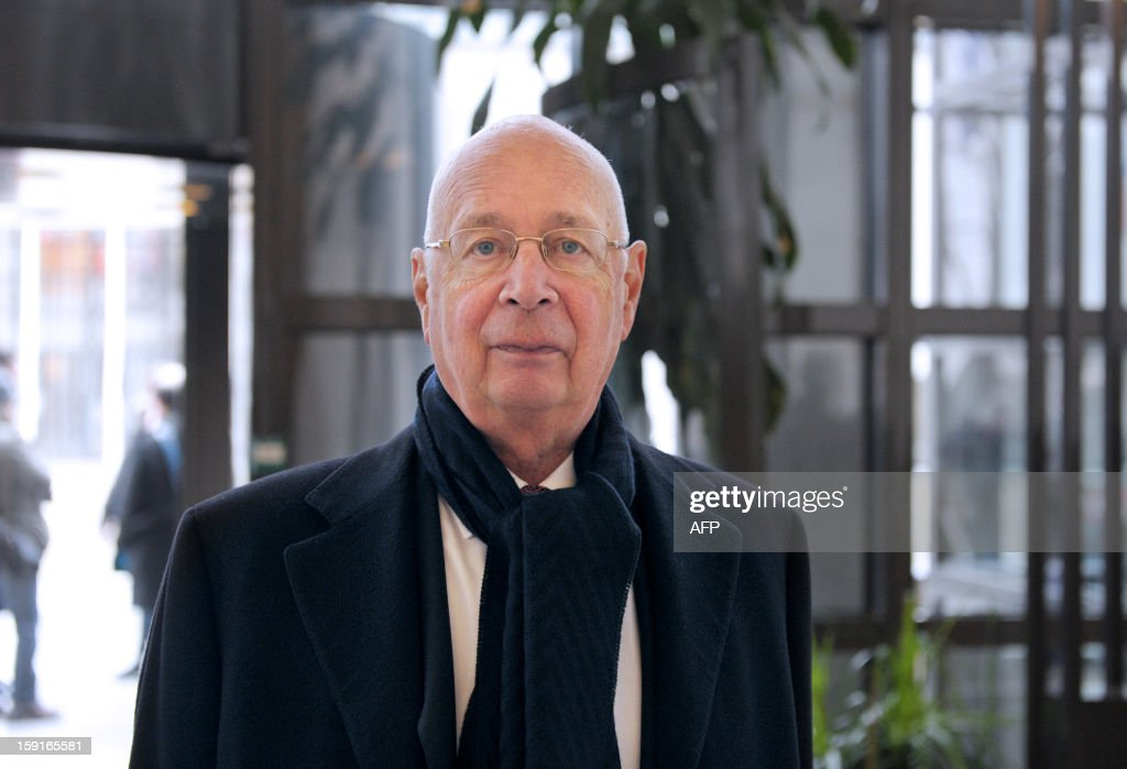 World Economic Forum (WEF) founder and executive chairman Klaus Schwab arrives on January 9, 2013 at the Economy Ministry in Paris for a meeting. The annual WEF meeting in Davos will start on January 23, 2013.