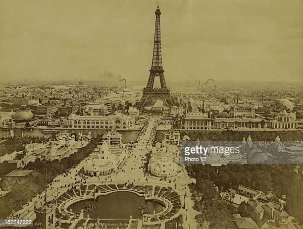 World Exhibition Paris Panorama of the Trocadero Park and the Champ de Mars Photographer Neurdein Print Private collection