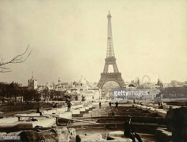 World Exhibition Paris The building of the Trocadero ponds Print Private collection