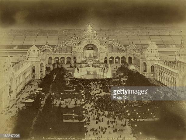 World Exhibition Paris The Champ de Mars and the Palace of Electricity Night Festivities Photographer Neurdein Print Private collection