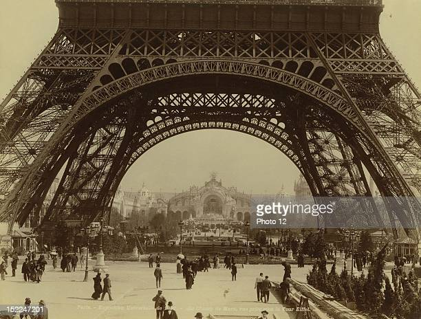 World Exhibition Paris The Champ de Mars shot taken from under the Eiffel Tower Photographer Neurdein Print Private collection