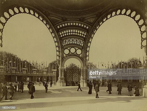 World Exhibition Paris The Great Door Photographer Kuhn Print Private collection