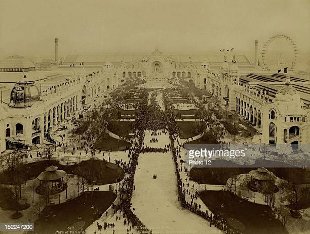 World Exhibition Paris The official procession on the opening day at the Parc et Palais de Mars Photographer Neurdein Print Private collection