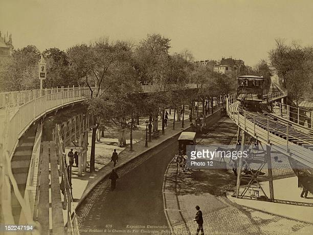 World Exhibition Paris The travelator and the electric railway view of the Avenue de la MottePicquet Photographer Neurdein Print Private collection