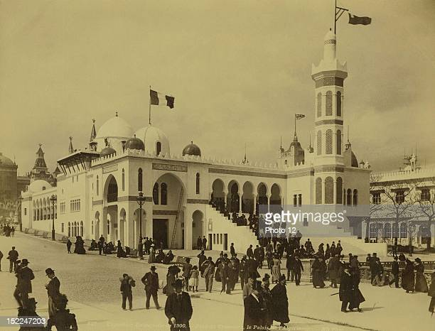 World Exhibition Paris The Trocadero park and the Algerian Palace Photographer Neurdein Print Private collection