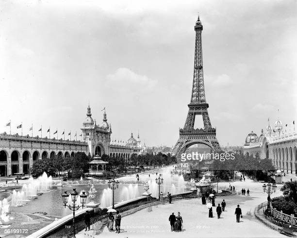 World Fair of 1900 Paris The park of ChampdeMars Seen taken of the palace of the Electricity