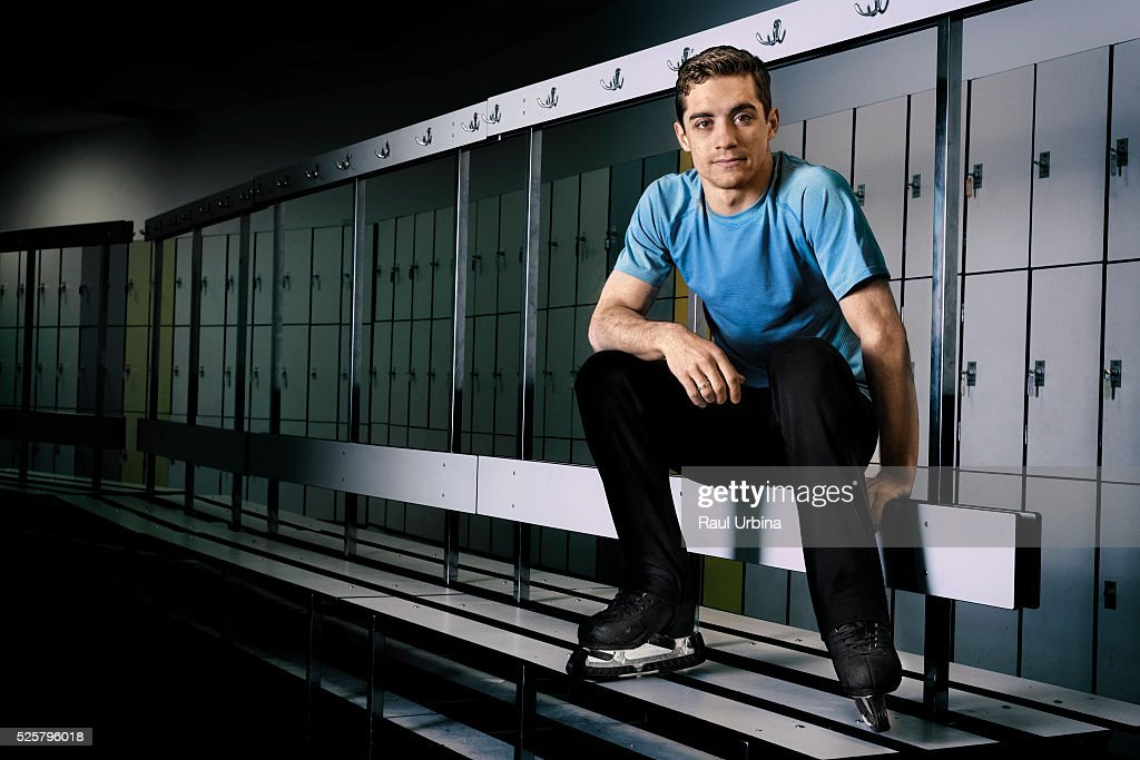 World Figure Skating Champion Javier Fernandez poses during a portrait session at Ice Track 'Francisco Fernandez Ochoa' on May 8, 2015 in Valdemoro, Spain.